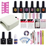 Coscelia 36W lampada UV LED manicura set KIT Smalto in Gel Semipermanente