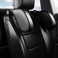 Car Seat Headrest Pillow Road Pal Headrest Adjustable PU Leather Head Neck Support Travel Car Sleeping Pillow for Kids…