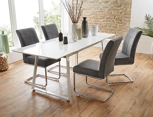 expendio Mesa Comedor Grupo Armin Blanco Brillante + 4 sillas ...