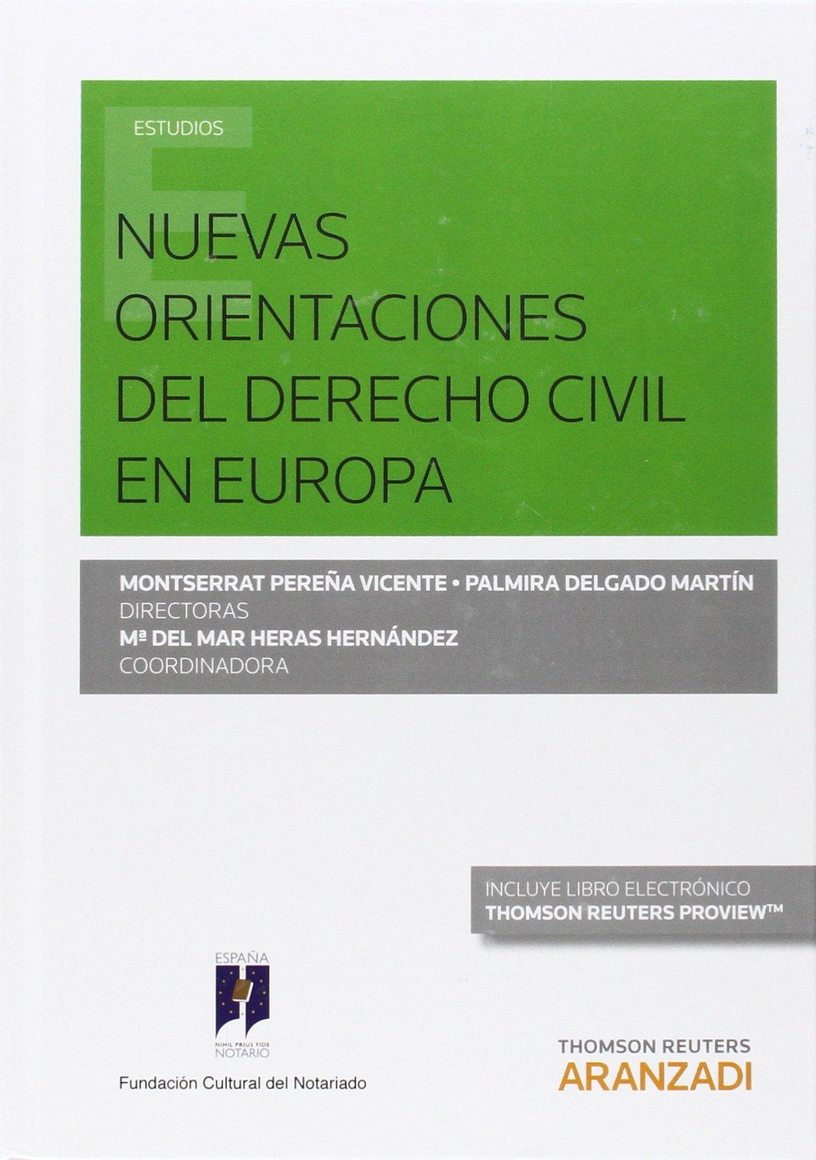 Nuevas orientaciones del derecho civil en Europa (Papel + e-book) pdf