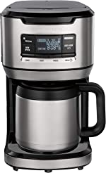 Hamilton Beach Programmable Front-Fill Coffee Maker with Thermal Carafe (46391), 12