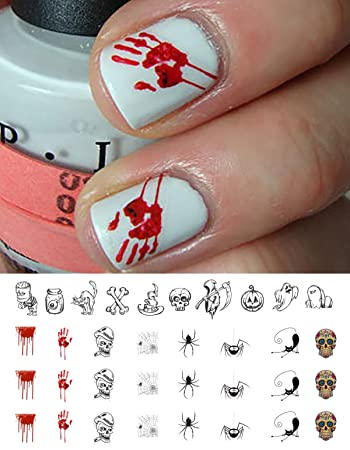 Amazon Halloween Nail Decals Assortment 1 Waterslide Nail