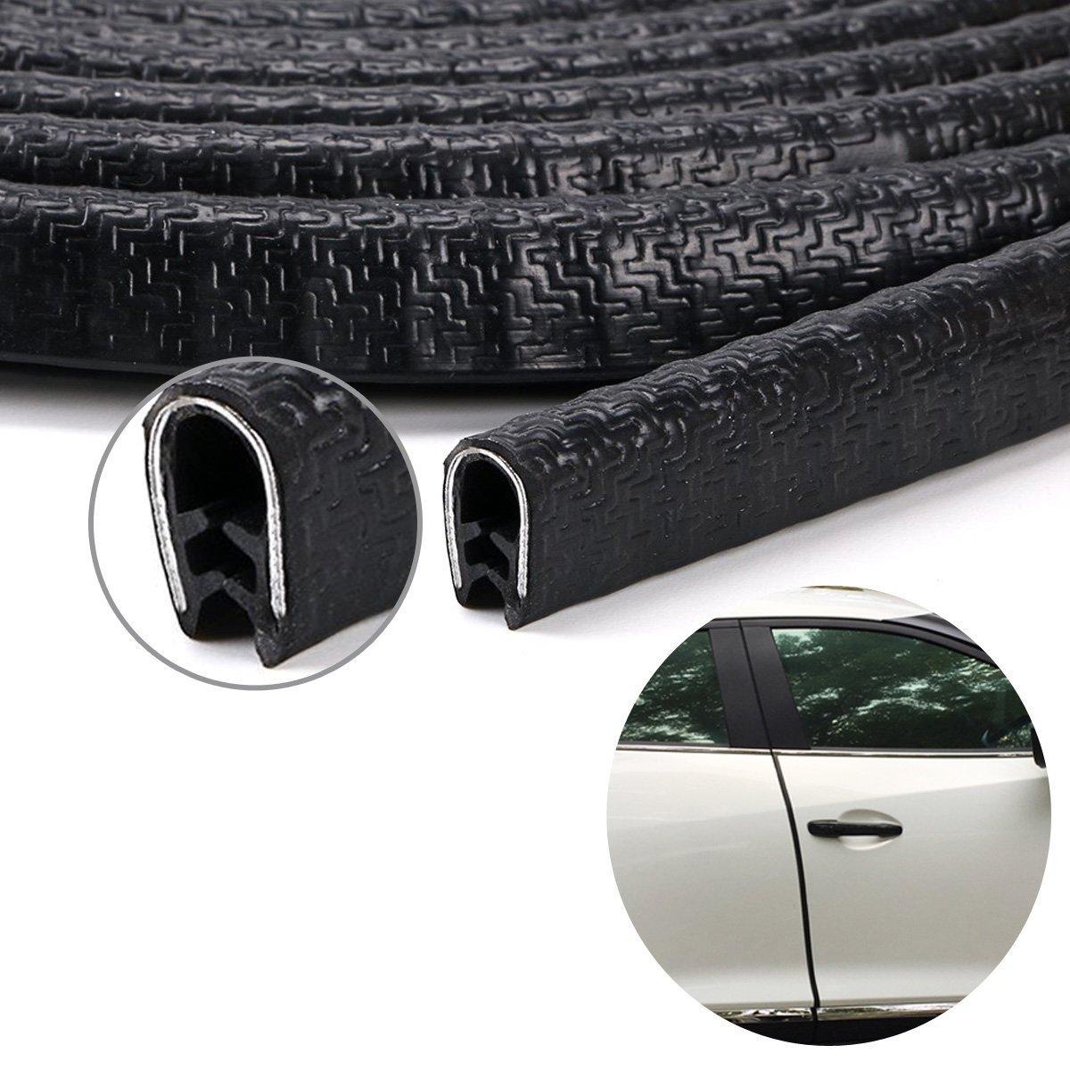 Car Door Edge Guard, U Shape Rubber Edging Protector Strip for Metal, Glass, Boat and Grip Range, Fit 2.5mm thickness edge 2 Packs Total 10 Meters Bro