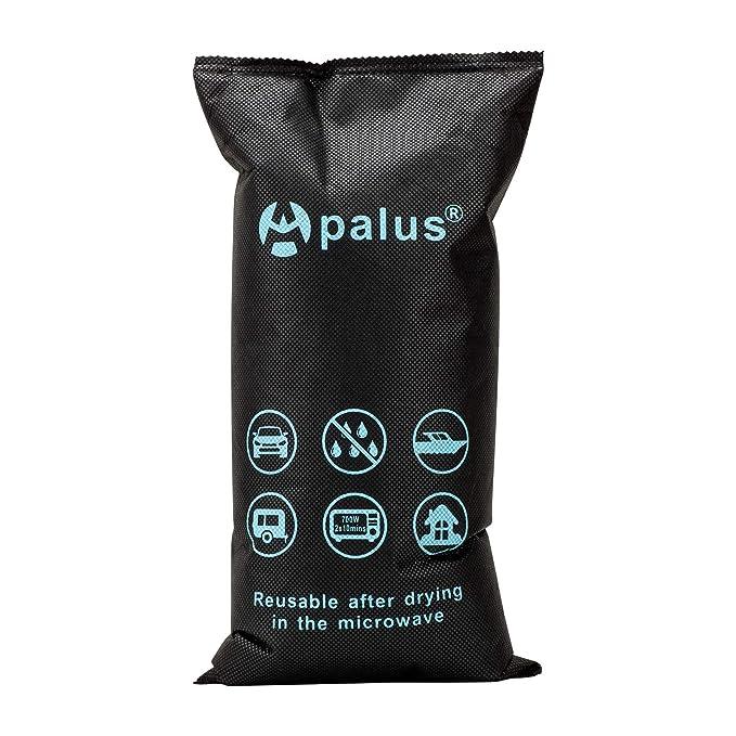 Apalus ® Bolsa Antihumedad Reutilizable para el Coche, Sin Tóxicos. Absorbe Humedad con Gel De Sílice, Evita Empañado y Condensación, Deshumidificador ...