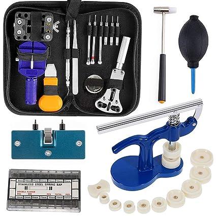 Amazon.com: Kit de herramientas de reparación de relojes ...