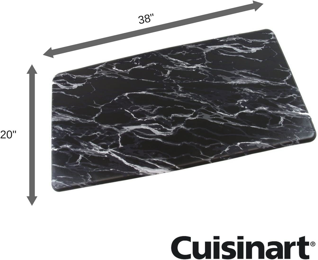 Black Non Slip Kitchen Mat By Cuisinart Marble Inspired Chef Mat Comfy Floor Pad Helps Eliminate Standing Back And Foot Pain 20 X38 Pure Comfort Kitchen Rug Anti Fatigue Comfort Mats Kitchen Dining