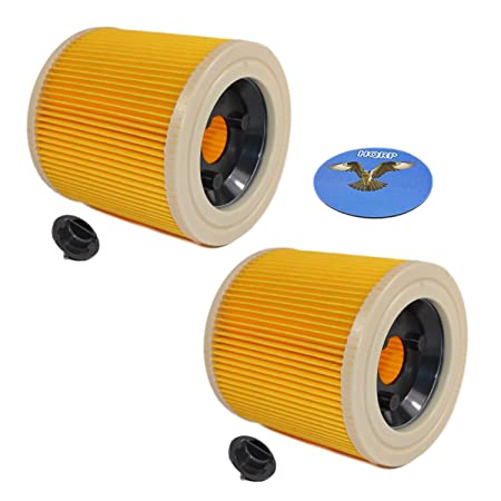 Hqrp 2 Pack Cartridge Filter For Karcher Wd 2 200 Wd 2 210