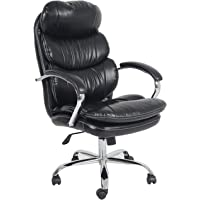 Multi Home Furniture MH-393 Ergonomic Full Leather PU Computer Desk Chair for Office and Gaming, high-back comfort and…