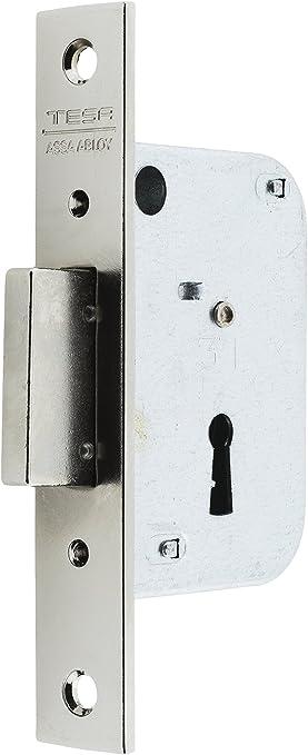 Niquelado Entrada 40mm 200540HN Cerradura de embutir para puertas de madera Tesa Assa Abloy