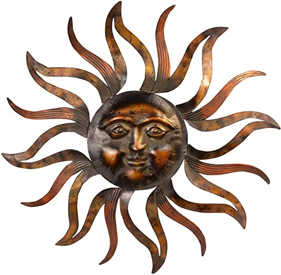 Ten Waterloo 7982 Large Sun Metal Wall Decor