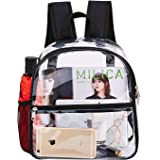 Clear Mini Backpack Stadium Approved, Cold-Resistant See Through Backpack, Water proof Transparent Backpack for Work…