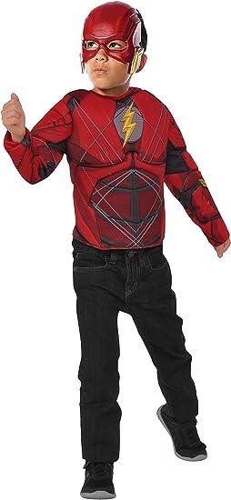 Rubies- Disfraz The Flash con pecho musculoso, Talla única ...