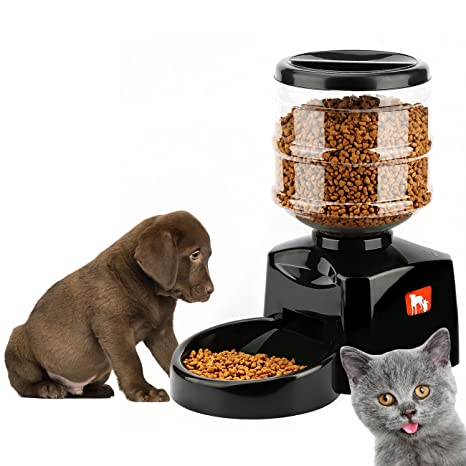 Tera alimentador automático de Mascota Inteligente Pet Food Storage Can en seco Capacidad 5.5L para