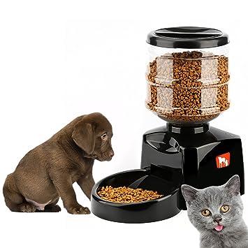 Tera alimentador automático de Mascota Inteligente Pet Food Storage Can en seco Capacidad 5.5L para Mascota Perros y Gatos Negro/Blanco: Amazon.es: ...