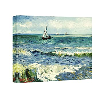 Van Gogh Fishing Boats on the Beach at Saintes-Maries Mediterranean 16x20 Poster