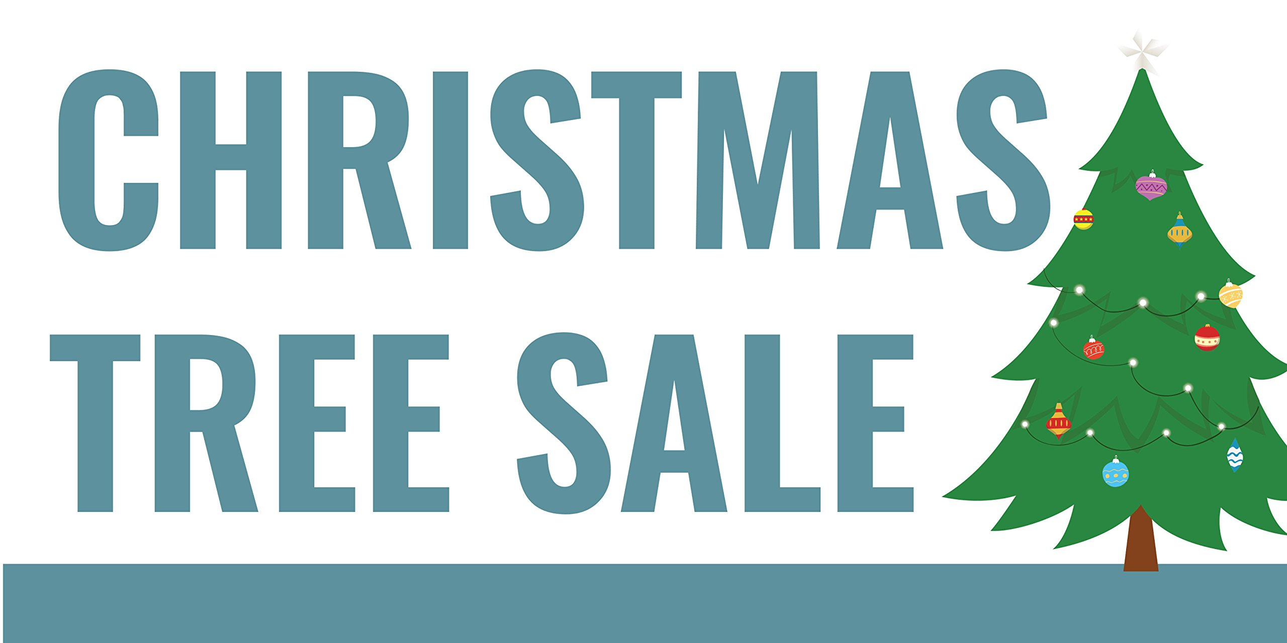 Pre-Printed Christmas Tree Sale Banner - Light Green (10' x 5') by Reliable Banner Sign Supply & Printing