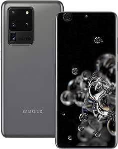 Samsung Galaxy S20 Ultra 5G 128GB SM-G988B/DS Dual-SIM (GSM Only | No CDMA) Factory Unlocked Smartphone - International Version (Cosmic Grey)