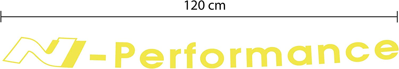 Adhesivo para parabrisas dise/ño de Deca G010 N-Performance 120 x 12 cm