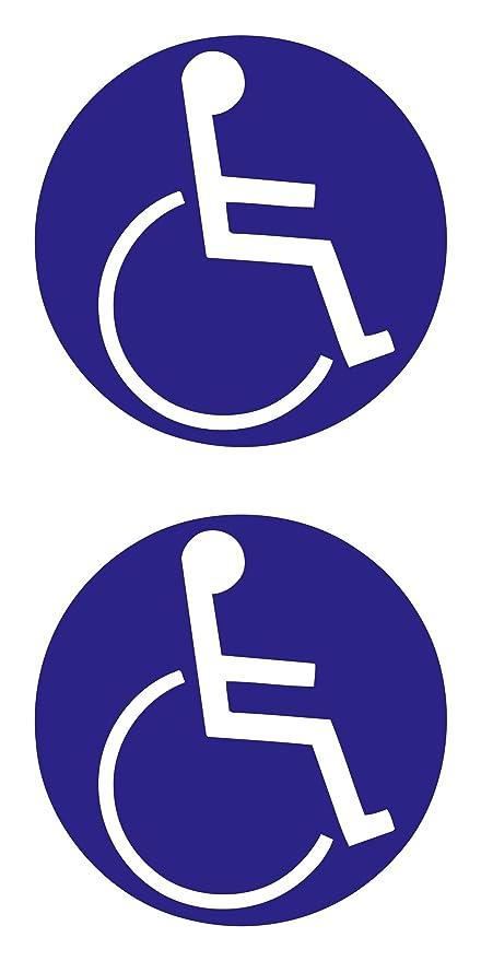 Aufkleber Behinderten Symbol 2er Set Blau Schneller Versand Innerhalb 24 Stunden