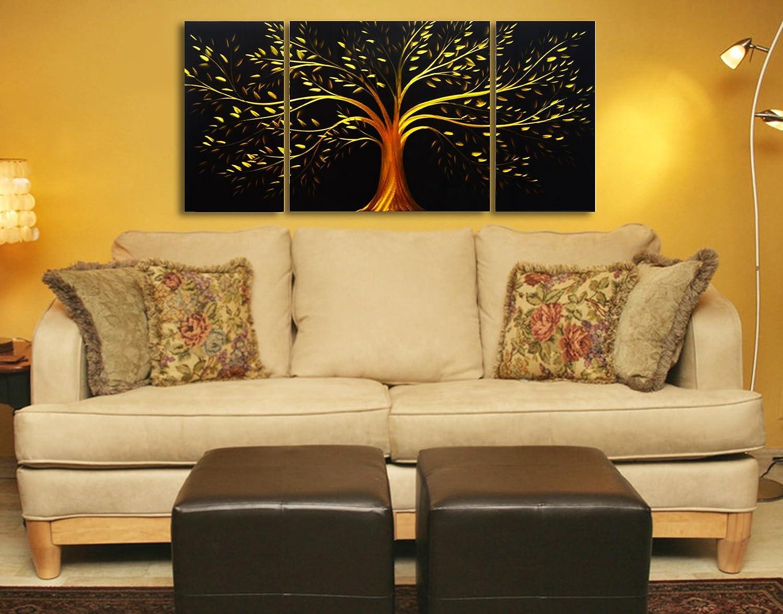 Amazon.com: Black and Gold Tree of Life Metal Wall Art - 50\