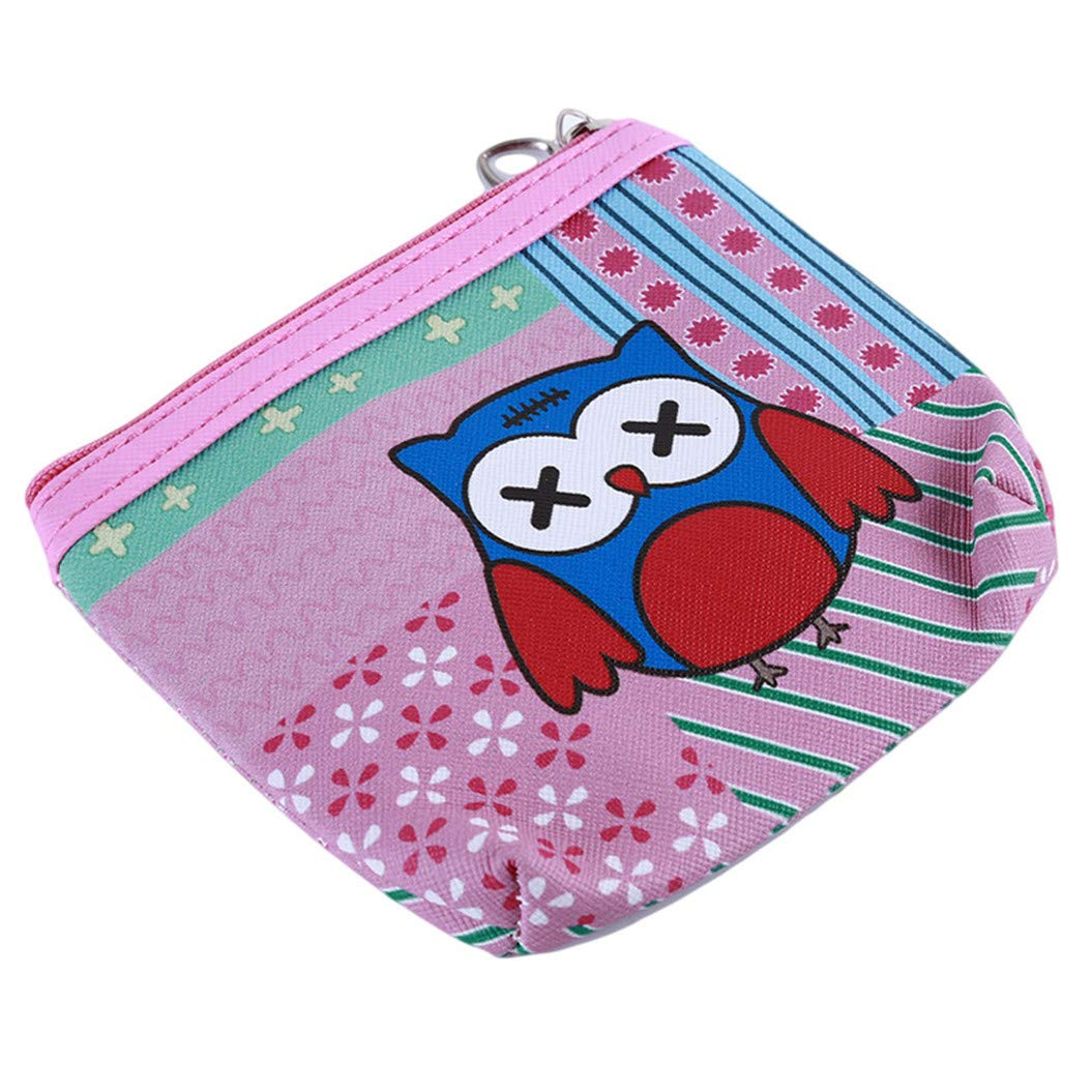 LZIYAN Cute Coin Purse Cartoon Owl Pattern Coin Purse Clutch Bag Portable Small Wallet With Zipper Storage Bag Creative Gift For Women,2# by LZIYAN (Image #2)