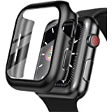 LeYi Compatible Apple Watch Series 6/ SE/ 5/ 4 Case 40mm with Build-in Tempered Glass Screen Protector, Shockproof…