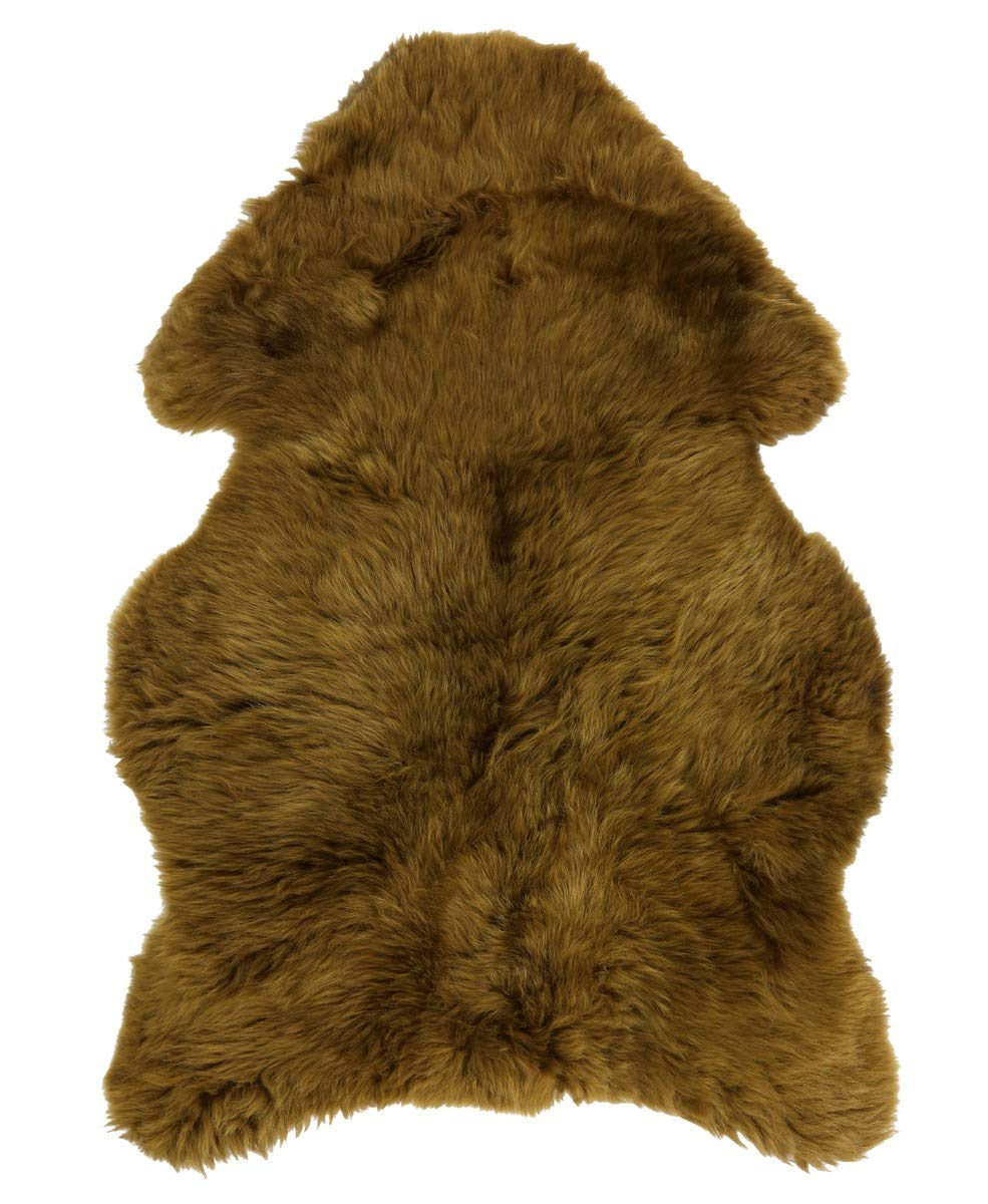 Vogar Genuine Sheepskin Rug with Soft Thick Wool VG-SH020, Light Brown 120-130cm