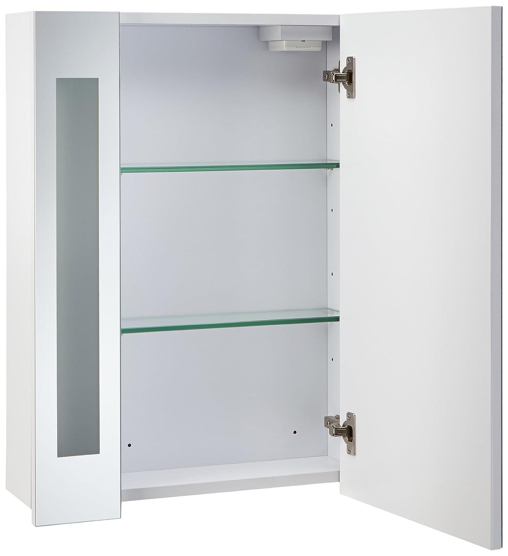 Mebasa MYBSPKMD4 - Armario con espejos para baño, 1 puerta, estantes ...
