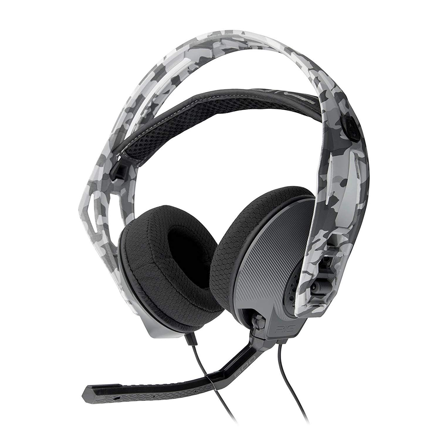 Plantronics RIG 500HS Stereo PS4 Gaming Headset Headphones & Boom Mic - White/Camo (Certified Refurbished)