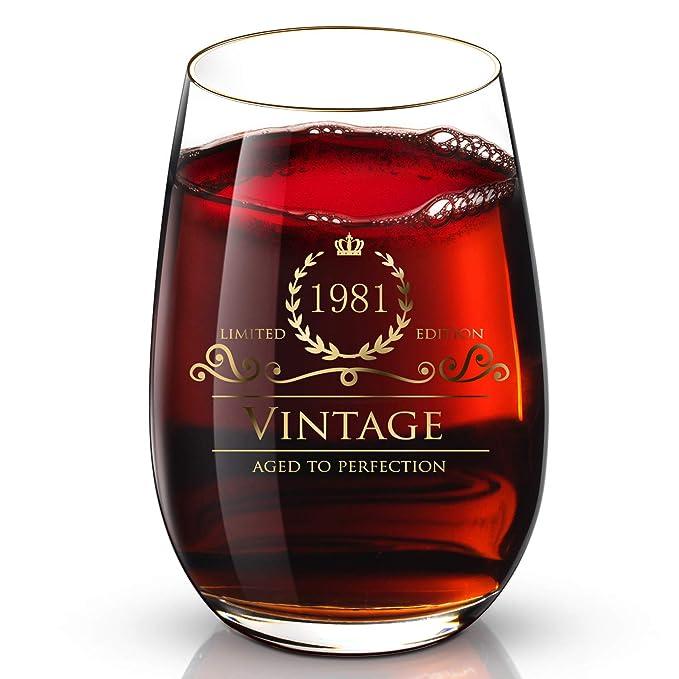 Amazon.com: Copa de vino de oro de 24 quilates hecha a mano ...