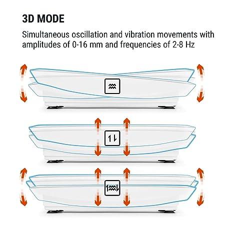 Klarfit Vibe 4DX • Tabla vibratoria • Placa de vibración • Pantalla LCD • Capacidad máx. 120 kg • Potencia 440 W • 10 Modos de ...
