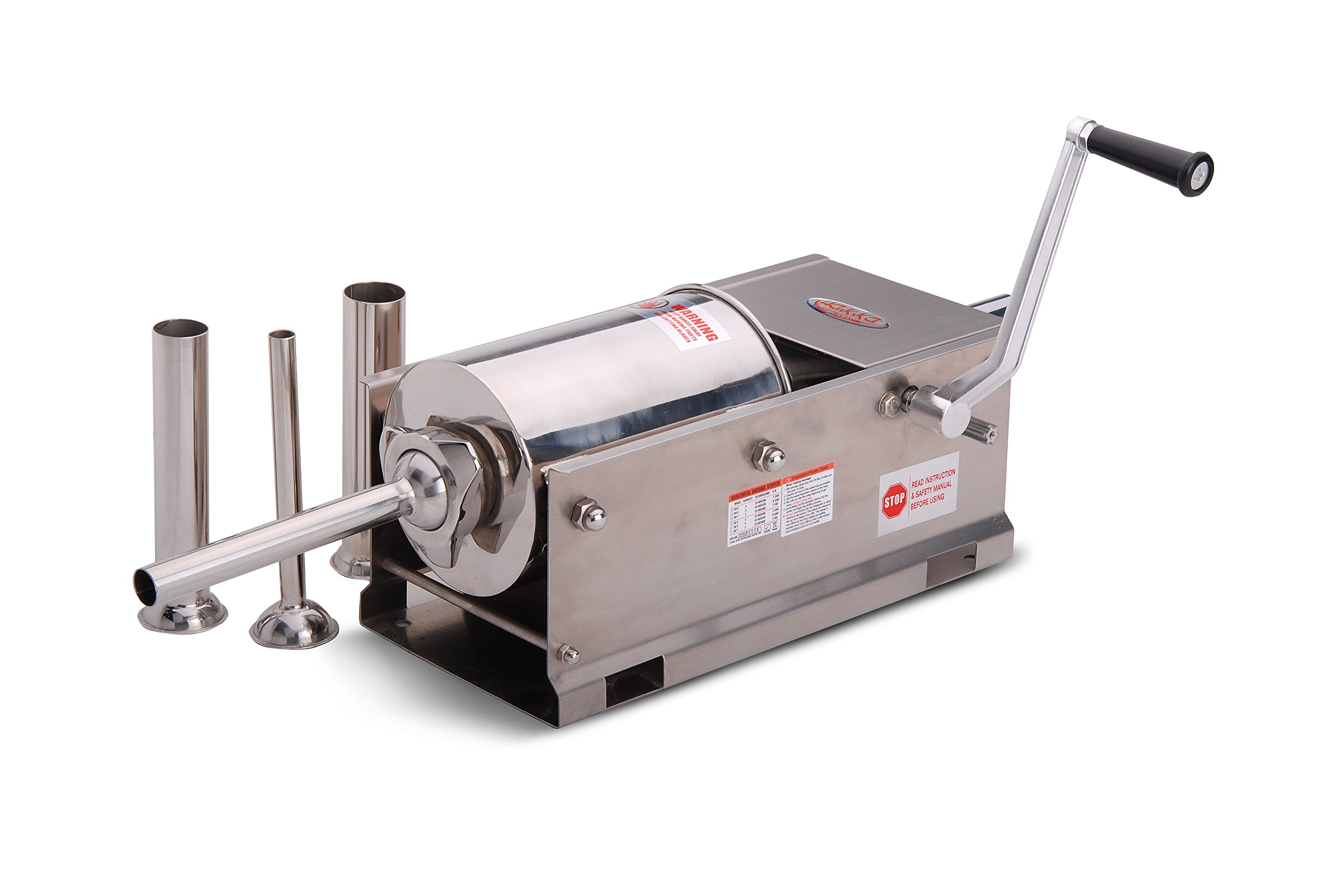 Hakka Sausage Stuffer 2 Speed Stainless Steel Vertical Sausage Maker (7Lb/3L(Horizontal)) by HAKKA BROTHERS