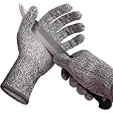 Cut Resistant Gloves Protection High Performance of Level 5 - Comfortable, Good Elastic, and Food Grade (L) Wizvv
