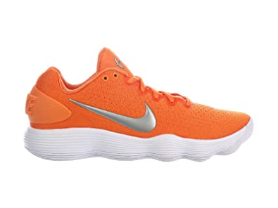 1288e480355e Image Unavailable. Image not available for. Color  NIKE Men s React  Hyperdunk 2017 Low Clay Orange Metallic Silver White Synthetic Basketball  Shoes