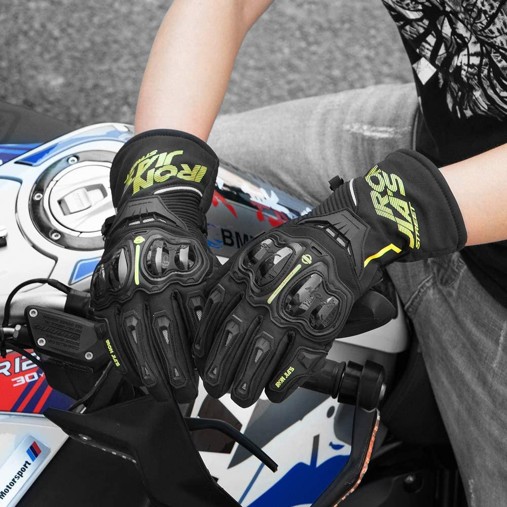 Moto Gants Hiver Chaud Gants de Protection imperm/éable Coupe-Vent GUANTES luvas /écran Tactile
