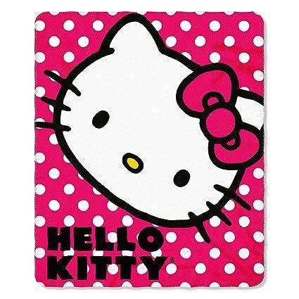 Hello Kitty Polka Dot Fleece Throw Blanket 40'' X 40'' Amazonin Stunning Hello Kitty Fleece Throw Blanket