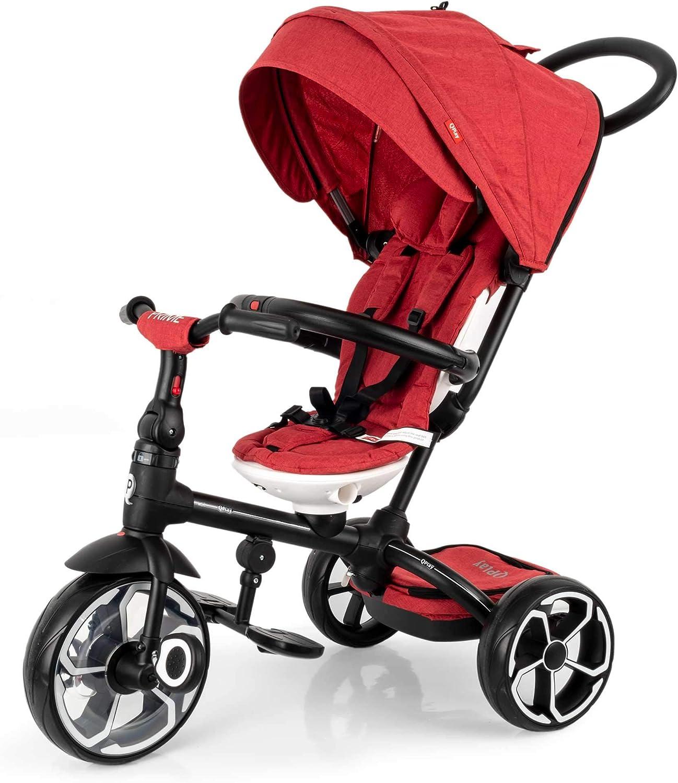 Triciclo evolutivo Prime 4 en 1 - Asiento giratorio 360º - de 10 a 36 meses - Rojo - QPlay