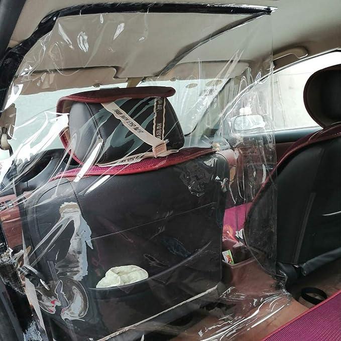 SGODDE - Película protectora para coche con aislamiento de taxi, autoadhesiva, antivaho y autoprotección, transparente, protección para partición de cortina de protección contra gérmenes, humo, saliva: Amazon.es: Deportes y aire libre