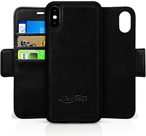 custodia folio in pelle per iphone xs max