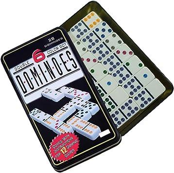 extraela Set Domino Doble 6 Color 28 pcs Domino Juego de táctica ...
