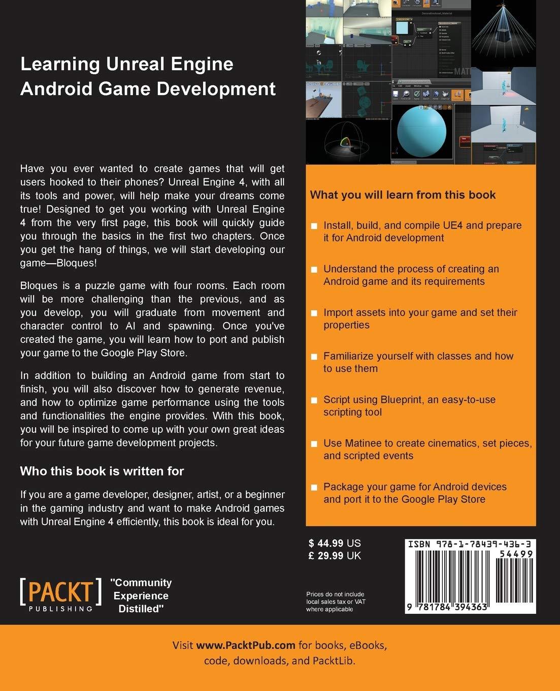 Amazon com: Learning Unreal Engine Android Game Development