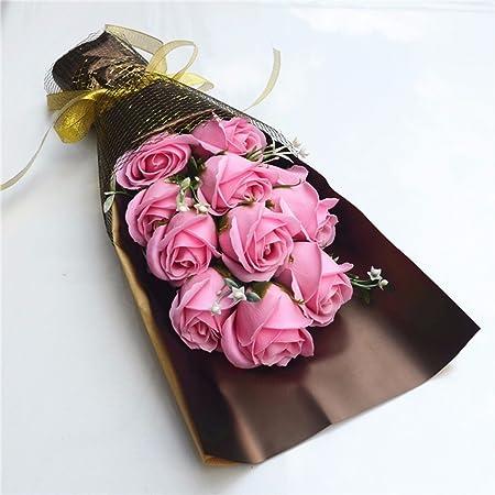 Regalos de cumpleaños creativas, 11 rosas, jabón, flores ...