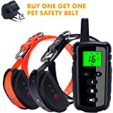 HISEASUN Remote Dog Training Collar, Rechargeable and 100% Waterproof with Beep, Vibration and Shock Electronic Collar, 1000ft Range