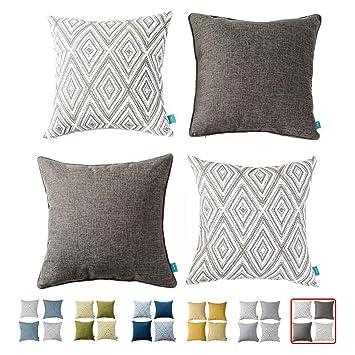 Amazon.com: Home Plus - Juego de 2 fundas de almohada ...