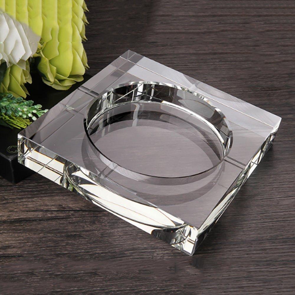 Posacenere di vetro tendenza personalità creativa multi-funzione carino posacenere di cristallo stile europeo soggiorno casa [Classe di efficienza energetica A+++]