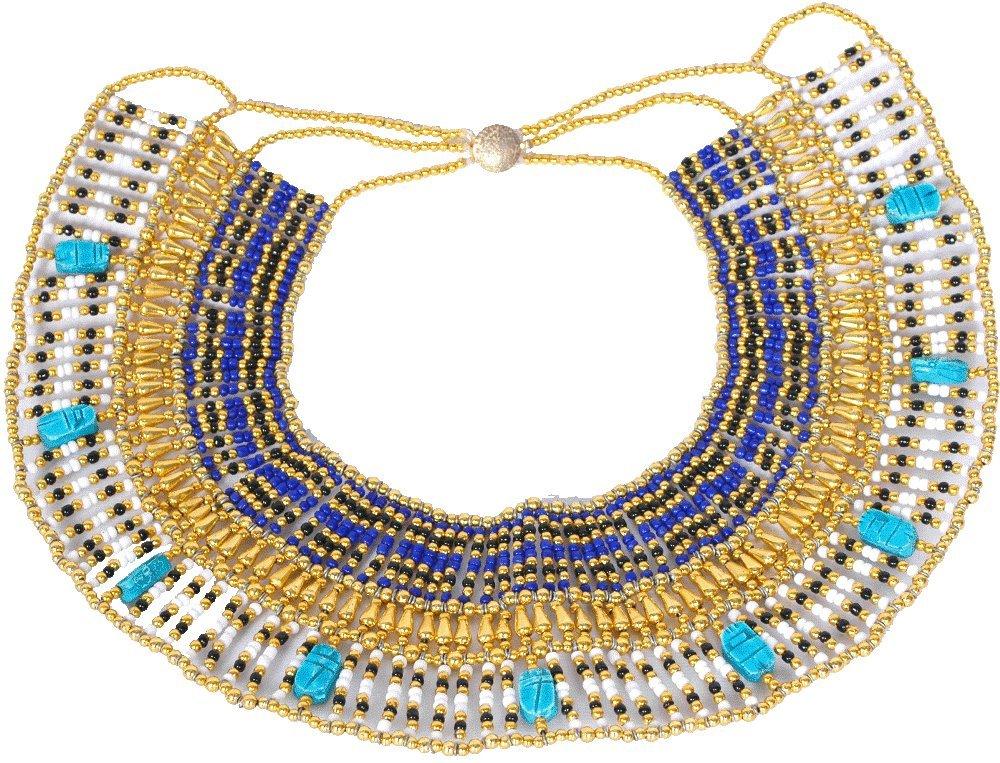 Handgefertigt Perlen Königin Kleopatra Ägypten goldfarben Halskette Bauchtanz Kostüm