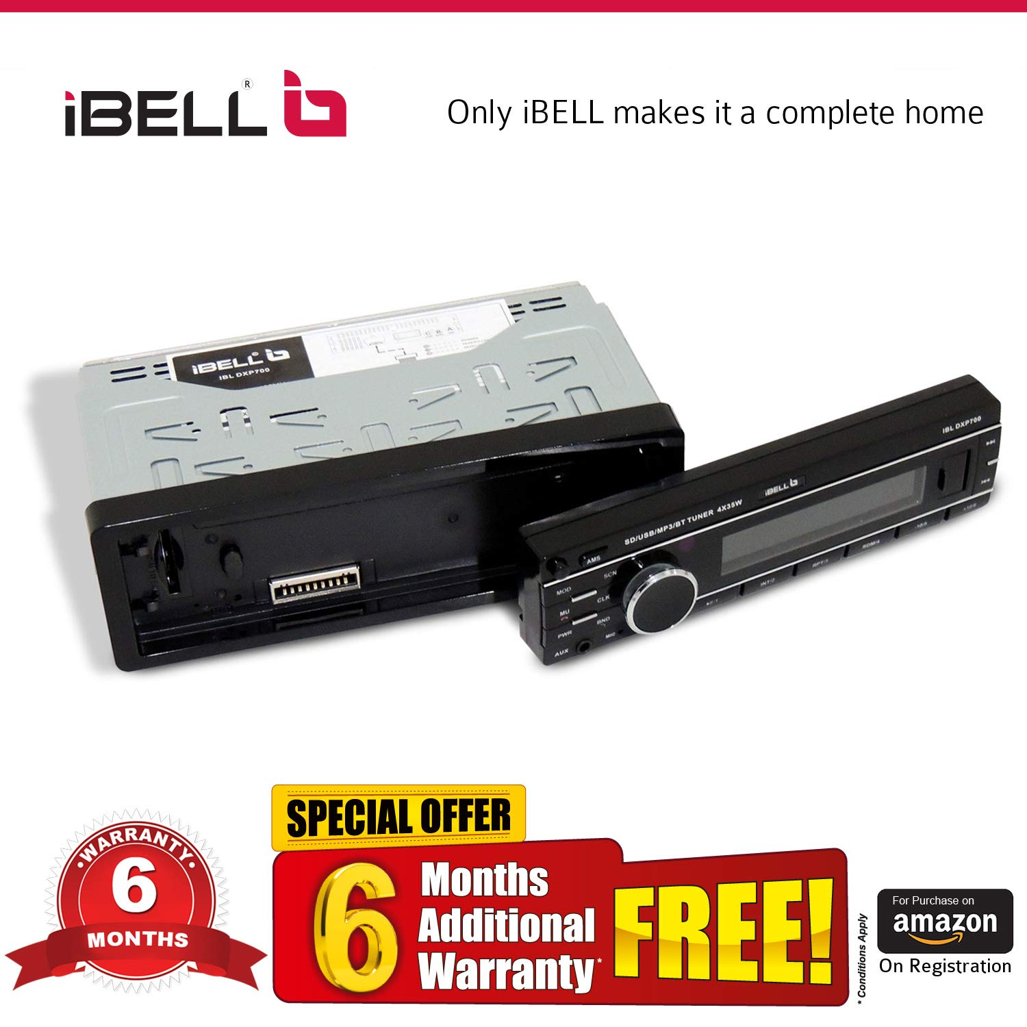 ede058b5af5 iBELL 140W Car Stereo Media MP3 Music System