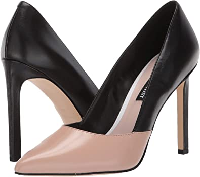 be7bc473389b Nine West Women s Tijoo Barely Nude Black Leather 9 ...