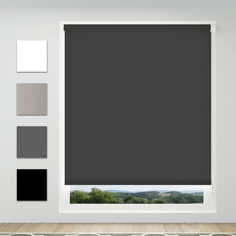 Achollo Store Enrouleur Tamisant Translucide sans perçage 45 x 170 cm Beige Montage Facile pour Fenêtre & Porte-Fenêtre