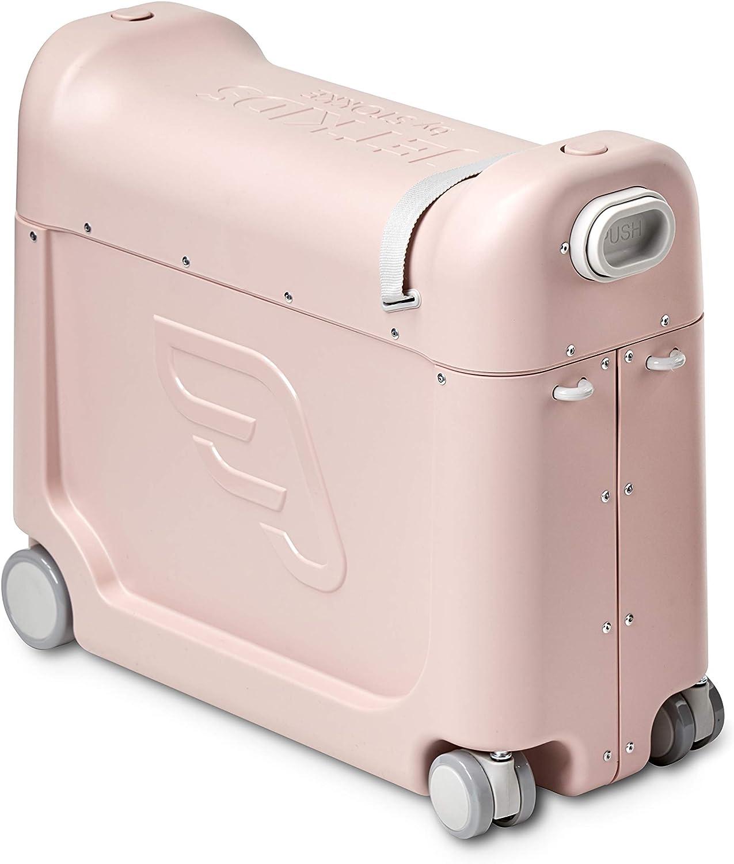 JetKids™ BedBox de STOKKE® - Maleta Infantil de Cabina con Cama de Viaje│Trolley con Asiento de 4 Ruedas para niños│Colour: Pink Lemonade
